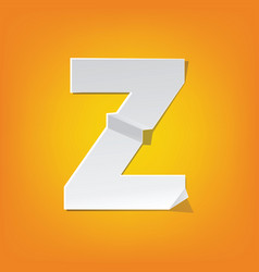 z capital letter fold english alphabet new design vector image vector image