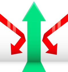Growth-down arrow vector