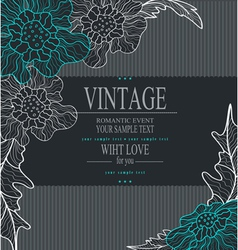Congratulation vintage background vector