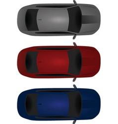 Car bird eye view vector image