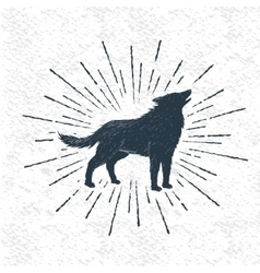 Sign of howling wolf vector image