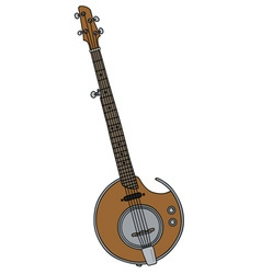 Modern electric banjo vector