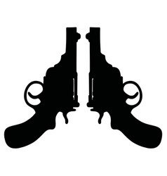 Retro short revolvers vector
