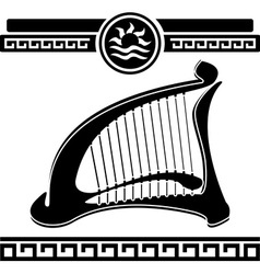 Ancient harp vector
