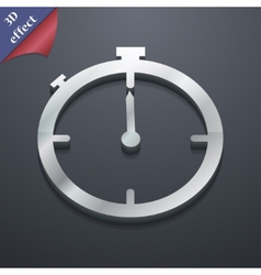 Timer icon symbol 3d style trendy modern design vector