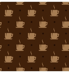 Seamless background with coffee cups vector