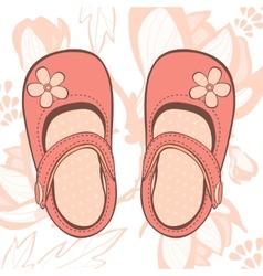 beautiful baby girl shoes vector image