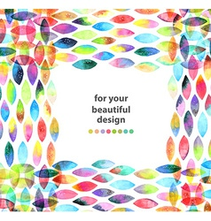 Watercolor colorful abstract background vector