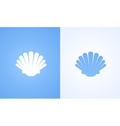 Icon of seashell vector
