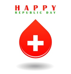 Republic day of switzerland vector