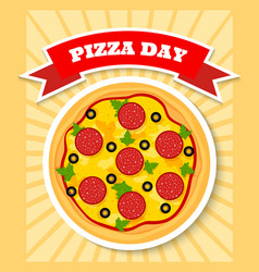 Pizza day vector