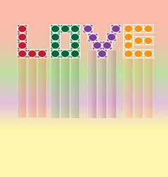 Love colorful wallpaper vector