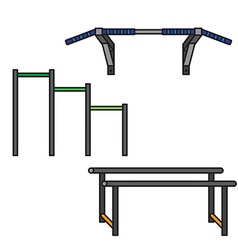 Sports equipment for street workout vector