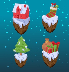 Christmas gift icon object set vector