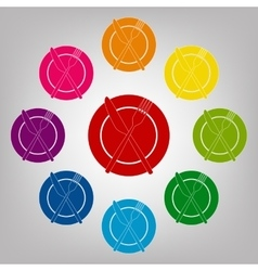 Icons colorfull set vector