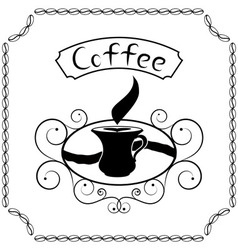 Signboard of coffee with cream vector image