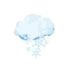 Snow cloud icon cartoon style vector