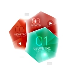Hexagon abstract geometric background vector