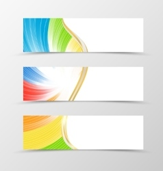 Set of banner rainbow design vector
