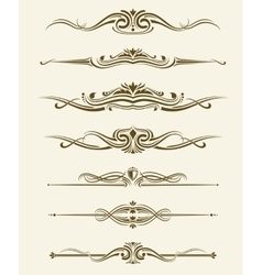Retro flourishes page dividers decorative vector