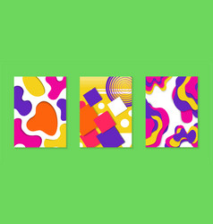 abstract paper cut color background collection vector image