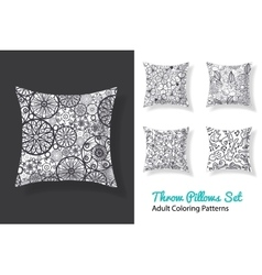 Adult coloring patterns prints on a set of vector