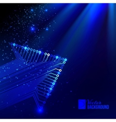 Arrow blue background vector image vector image