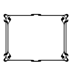 art nouveau black ornamental decorative frame vector image