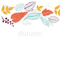 Autumn falling leaves backgroundCan be used for vector image vector image