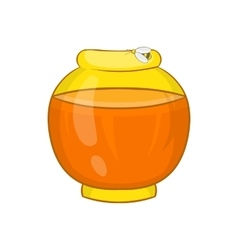 Bank with honey icon cartoon style vector