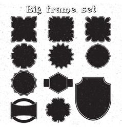 Big set of monochrome frames vector image vector image