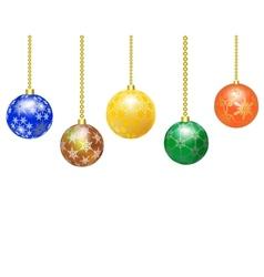 Border from Christmas balls vector image vector image