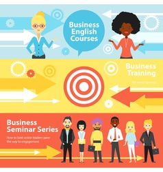 Business Training Horizontal Banners vector image vector image