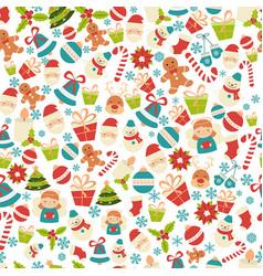 christmas seamless pattern christmas seamless vector image