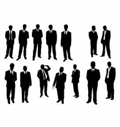 collection of businessman vector image vector image