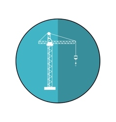 Crane hook construction machine blue circle shadow vector