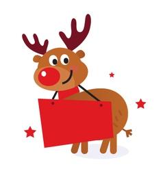 cute reindeer vector image vector image