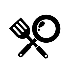 frying Pan icon vector image vector image