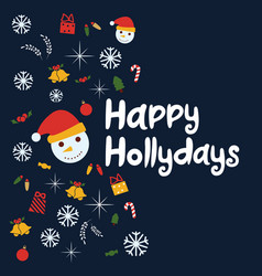 Happy holidays background vector