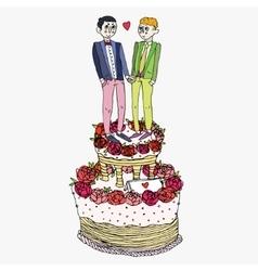 Homosexual wedding ceremony vector