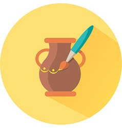 Icon for hand made pot vector