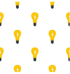 Light bulb with lightning inside pattern flat vector