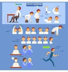 Office Syndrome Infographics vector image