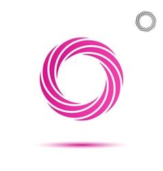 Pink segmented circular spiral vector
