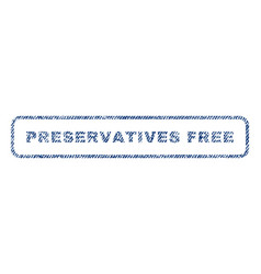 Preservatives free textile stamp vector