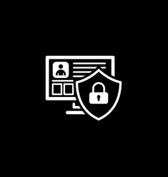 Private security icon flat design vector