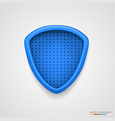 protection concept of blue shield vector image