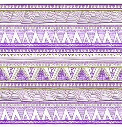 Seamless tribal ikat watercolor purple pattern on vector