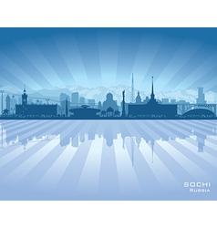 Sochi russia skyline city silhouette vector