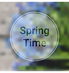 Spring Time Blurred Background with Blue Flowers vector image vector image